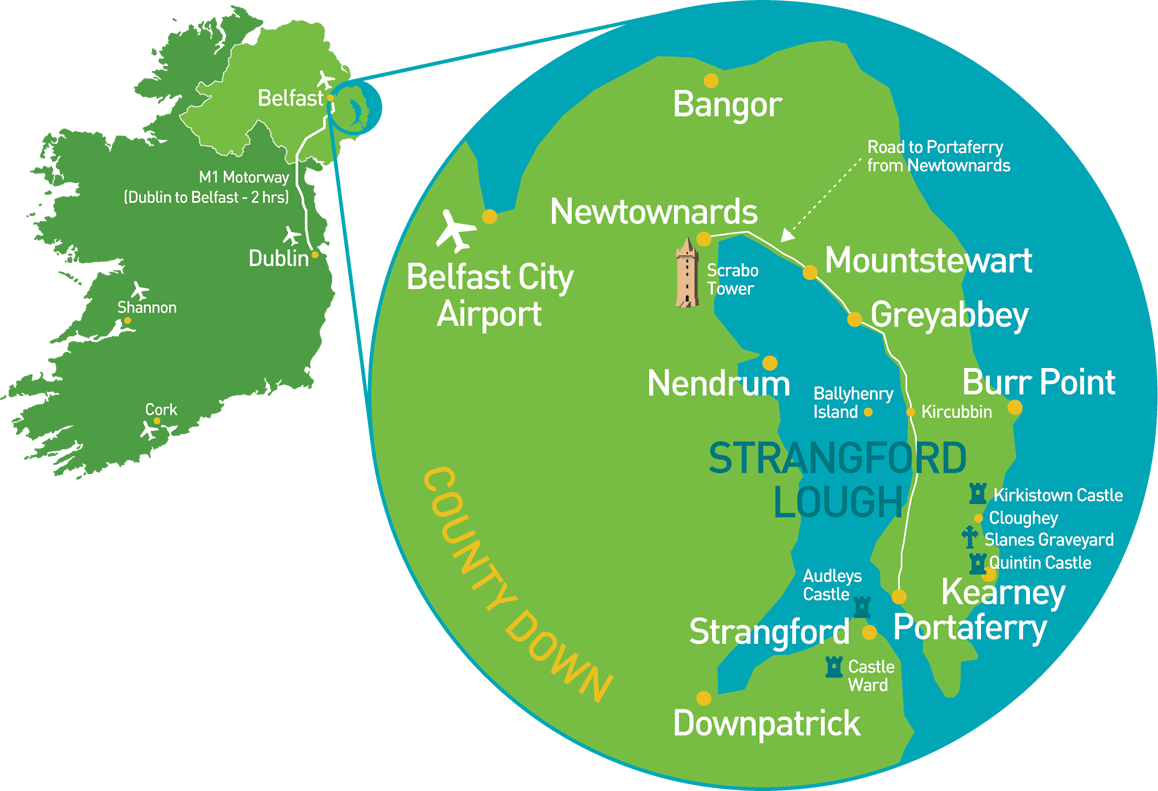 Ards Peninsula map